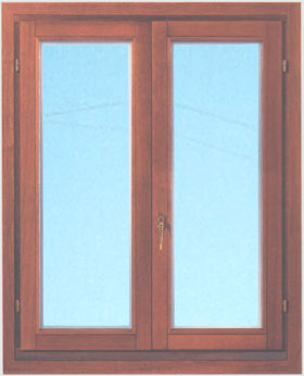 Finestre in legno - Finestra a 2 ante ...